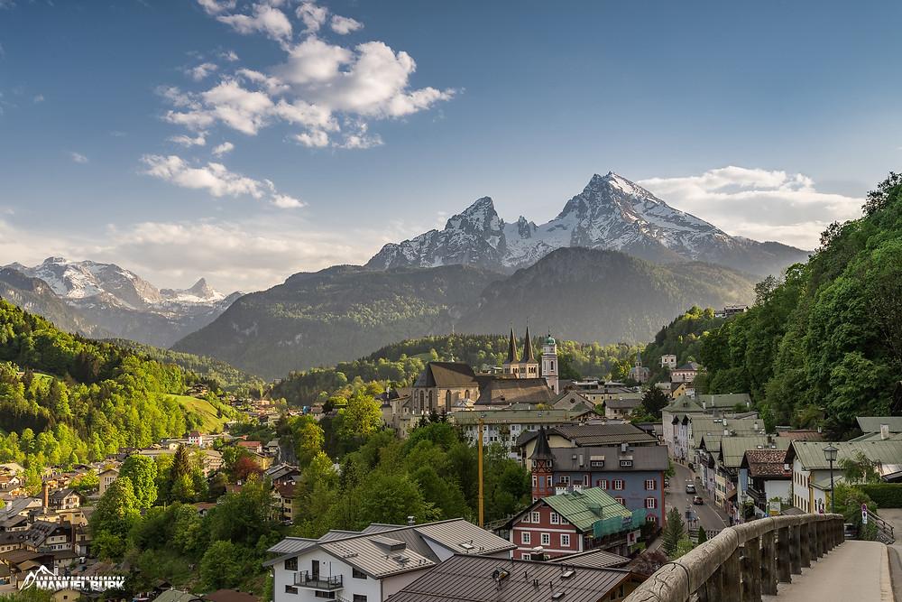 Berchtesgaden mit dem Watzmann im Hintergrund