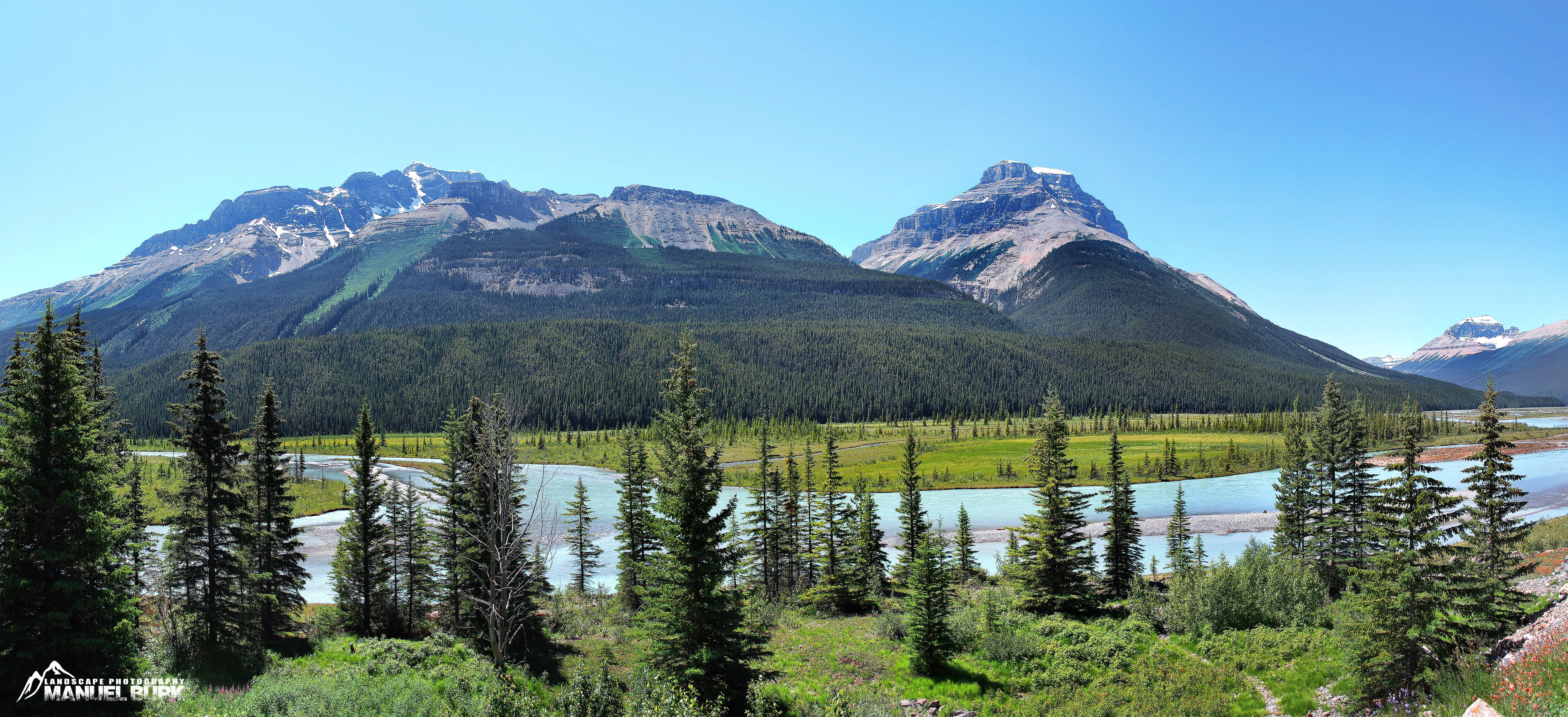 Icefield Parkway mit Athabasca River