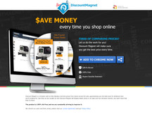 Discount Magnet landing page