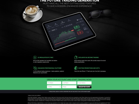 BCM - Binary landing page