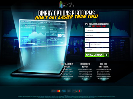 Sky Line Markeys - Binary landing page