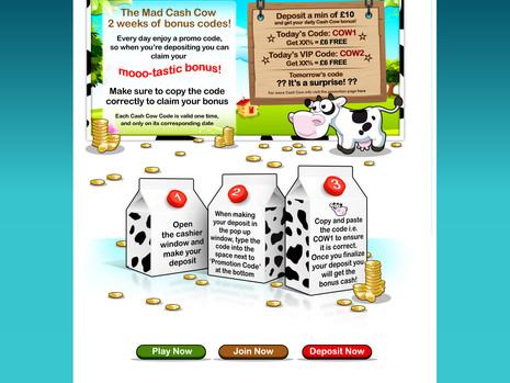 Bingo landing page
