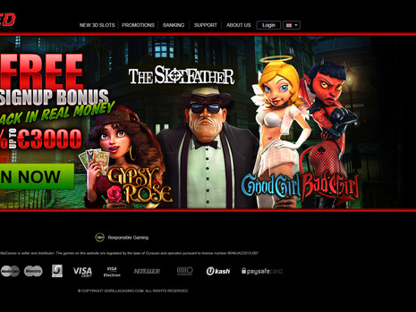Casino landing page