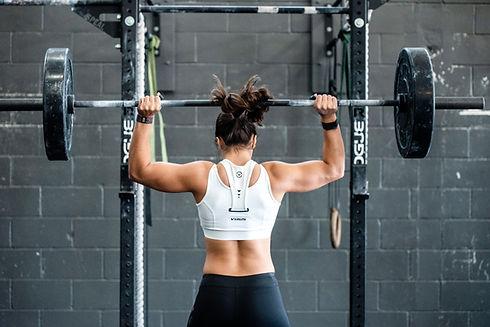 Girl weight lifting