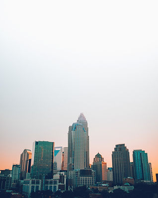 Downtown Charlotte, North Carolina at sunset