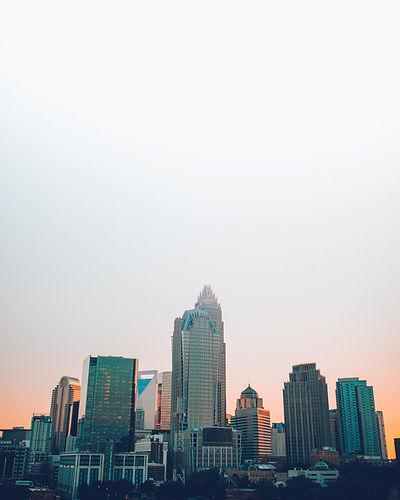 Downtown Charlotte, North Carolina at sunset