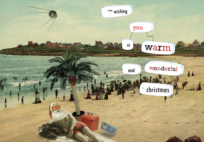 kerstmis - collage - wishing you a warm