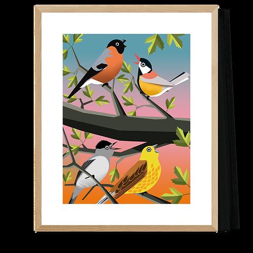 Artprint 'Spring Birds'