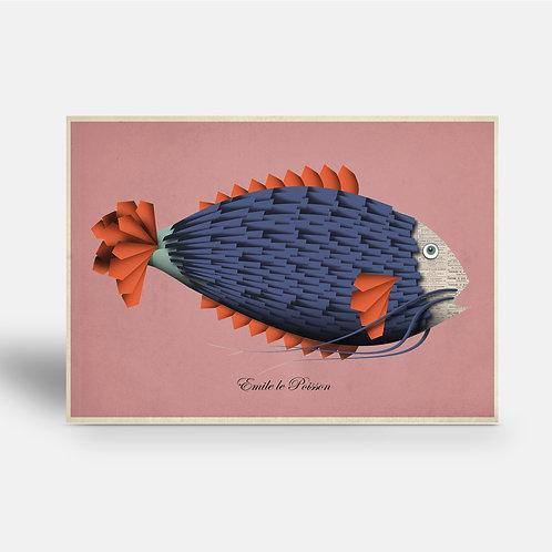 postcard 'Emile le Poisson'