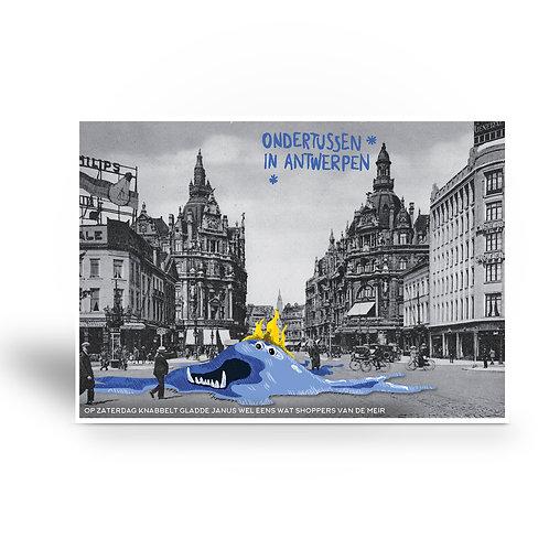 postcard 'Ondertussen in Antwerpen - Gladde Janus'