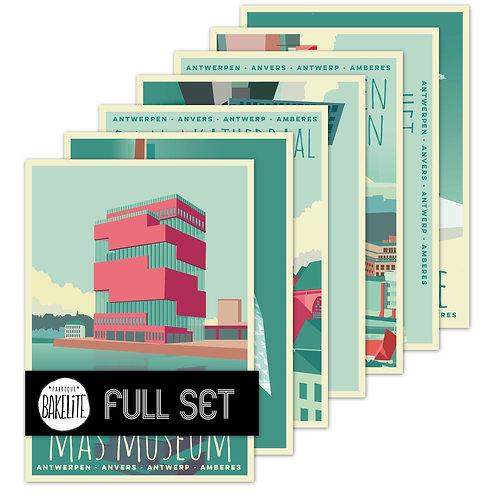 postcards 'Antwerp vintage'