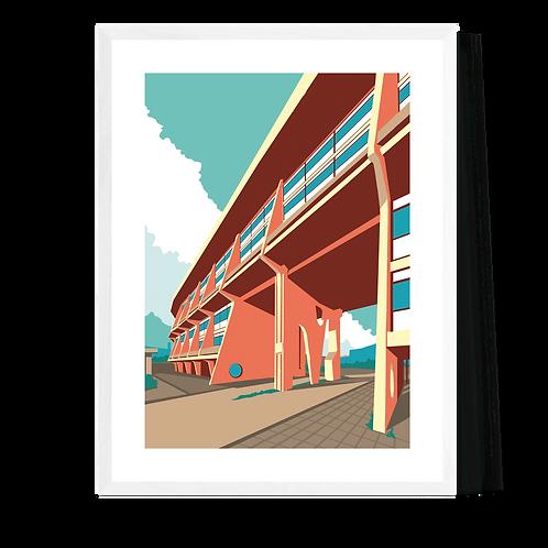 Artprint 'Arenawijk Deurne - Braem'