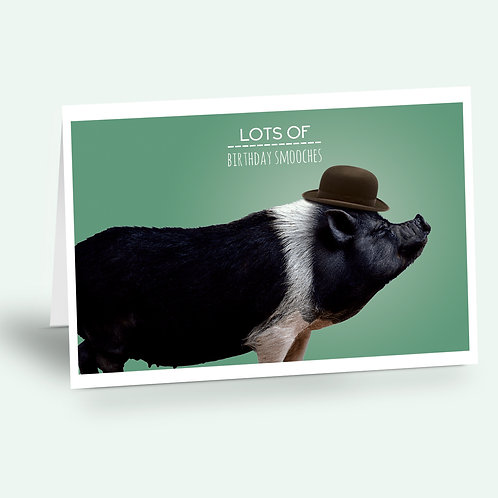 greeting card 'pig'