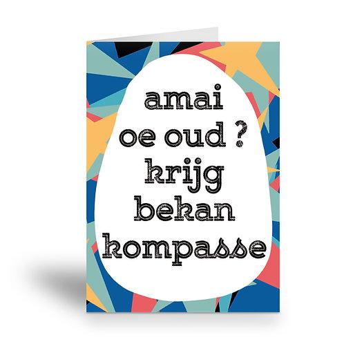 greeting card 'krijg bekan kompasse'