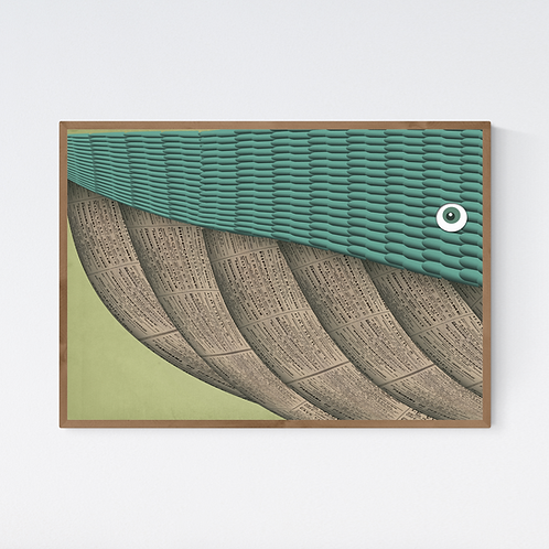 Artprint 'Terrence the Whale'