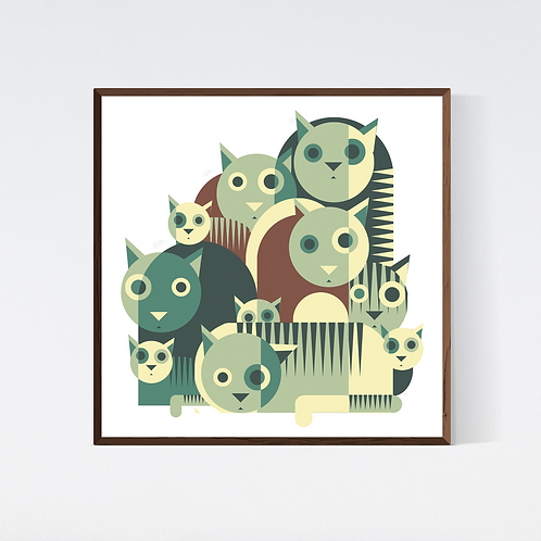 Artprint 'Colombian cats 1'