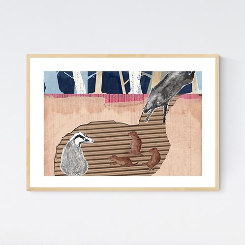 Artprint 'Animalschool 4'
