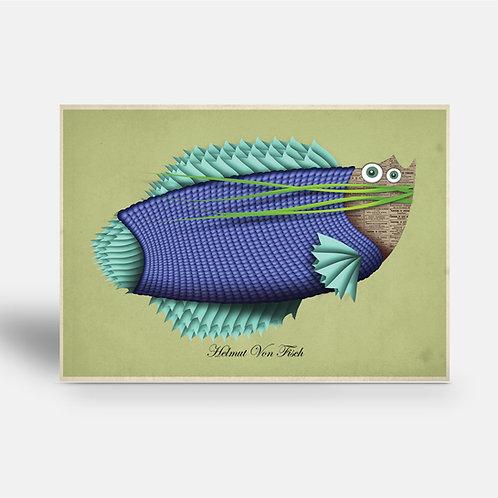 postcard 'Helmut Von Fish'