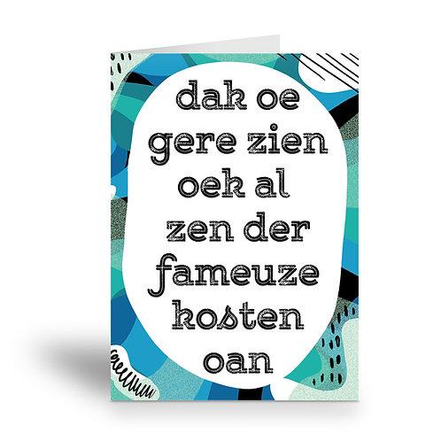 greeting card 'fameuze kosten'
