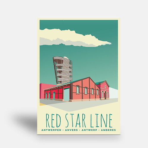 postcard 'Antwerp vintage - Red Star Line'