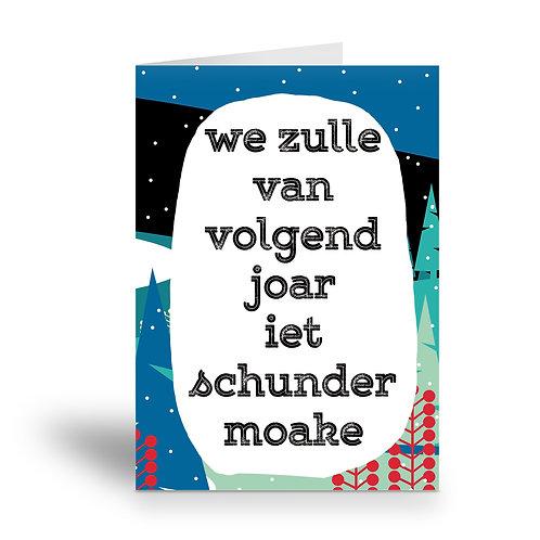 greeting card 'iet schunder'