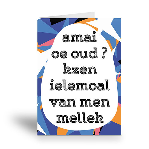 greeting card 'van men mellek'