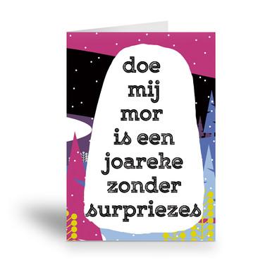 een joareke zonder surpriezes