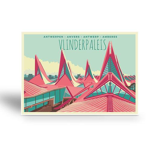postcard 'Antwerp vintage - vlinderpaleis'