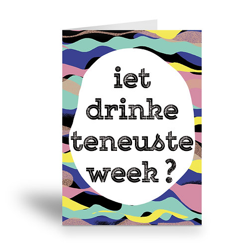 greeting card 'teneuste week'