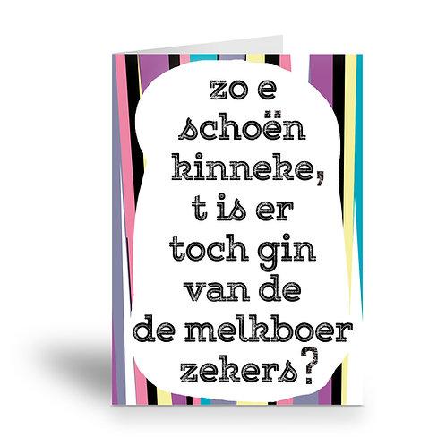 greeting card 'melkboer'