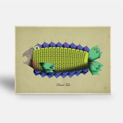 postcard 'Basil Fisk'