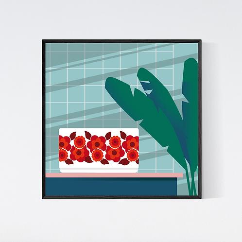Artprint 'vintage kitchen - arcopal'
