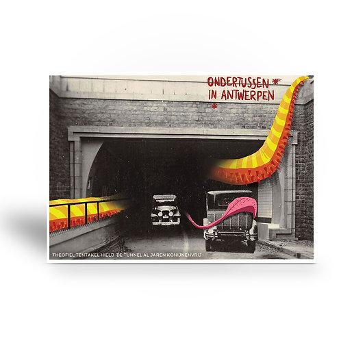 postcard 'Ondertussen in Antwerpen - Theofiel Tentakel'