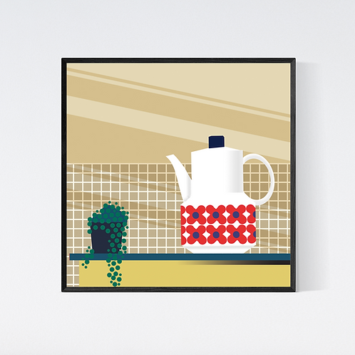 Artprint 'vintage kitchen - coffee'