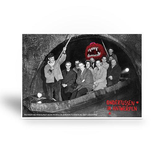 postcard 'Ondertussen in Antwerpen - Reinier de Rioolrat'