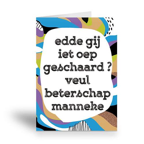 greeting card 'iet oepgeschaard ?'
