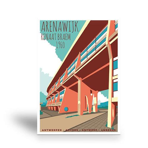 postcard 'Antwerp vintage - Arenawijk'