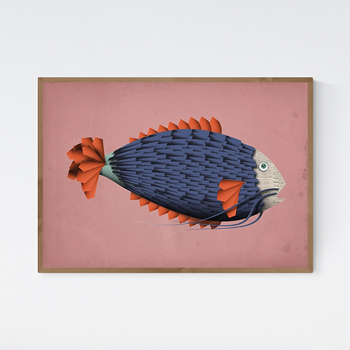 Artprint 'Emile Le Poisson'