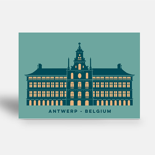 postcard 'Antwerp shapes - Stadhuis'