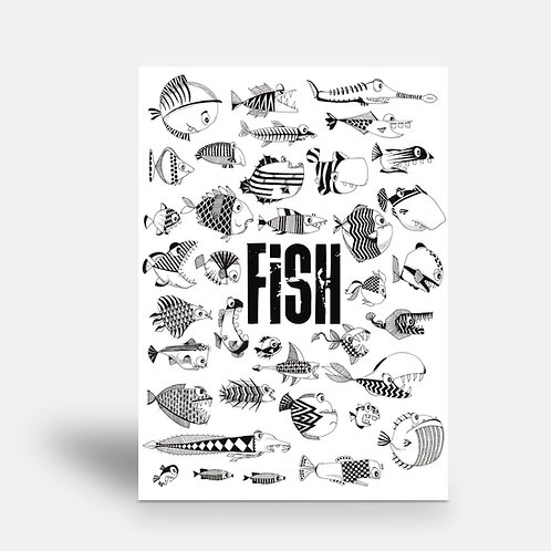 postcard 'Fish'