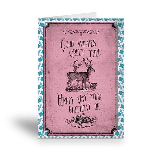 greeting card 'vintage birthday' 3