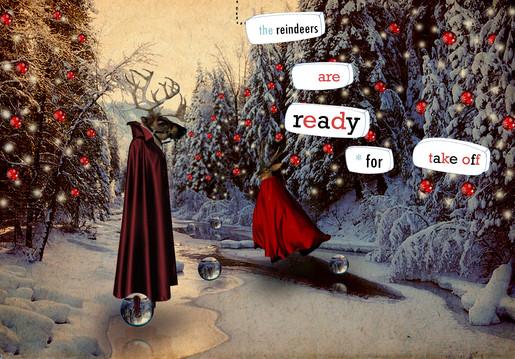 kerstmis - collage - the reindeers are r