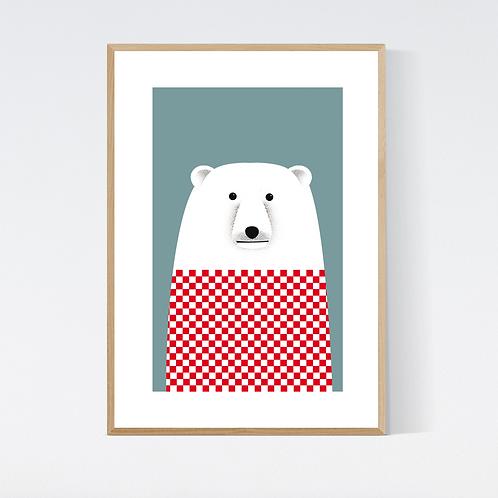 Artprint 'Derek Polarbear'