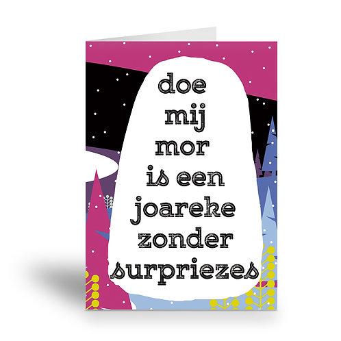 greeting card 'een joareke zonder surpriezes'