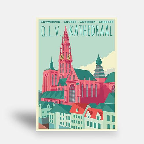 postcard 'Antwerp vintage - OLV Kathedraal'