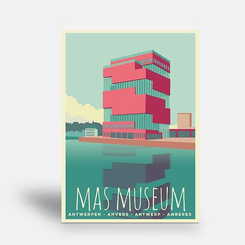 postcard 'Antwerp vintage - MAS'