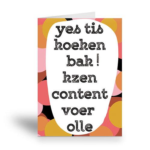 copy of greeting card 'koekenbak'