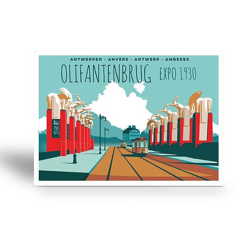 postcard 'Antwerp vintage - olifantenbrug'