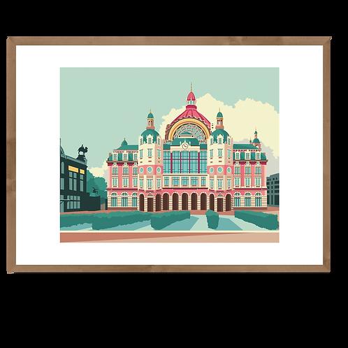 Artprint L 'Centraal Station'