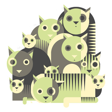 graphical cats green and grey S.jpg